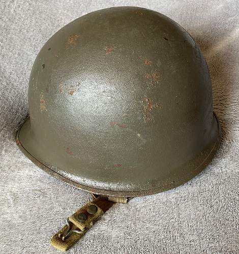 Another Danish M48 army Diaward helmet - in original colour and configuration