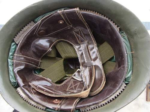 INDIAN ARMY steel combat helmet varient that you dont find very often