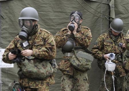 Japanese Defense Force Type 66 steel helmet