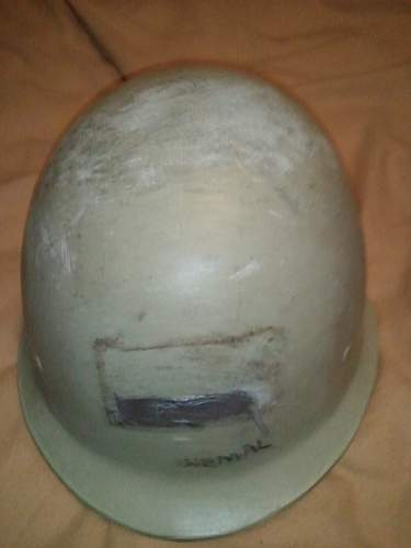 Helmets one US and one Iraqi