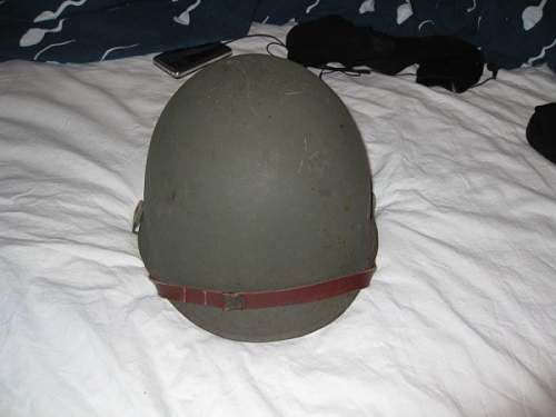 Helmet found. - Looks a little like a M1 helmet