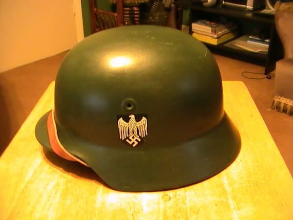Need a little help: post war German helmet