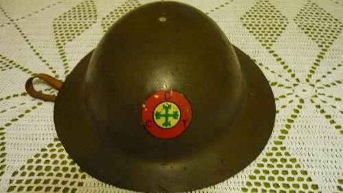 Portuguese M1917 Helmet
