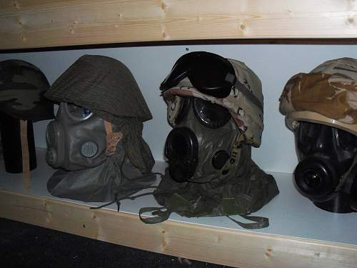 my m56 and pasgt helmets