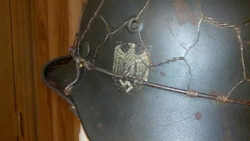 WW2 M35 wire helmet
