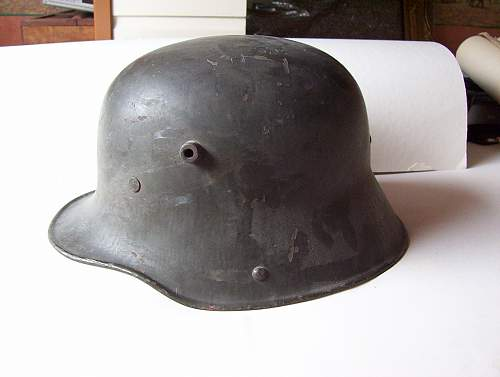 Click image for larger version.  Name:WW I M1916 steel helmet.jpg Views:159 Size:121.1 KB ID:33432
