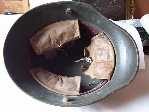 Click image for larger version.  Name:WW I M1916 steel helmet - inside.jpg Views:162 Size:167.4 KB ID:33433