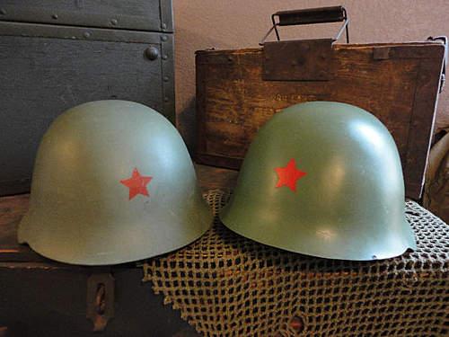 Helmet Pick-Ups  -  Belgian M71, French M78, Yugo M59, Ssh60 etc...