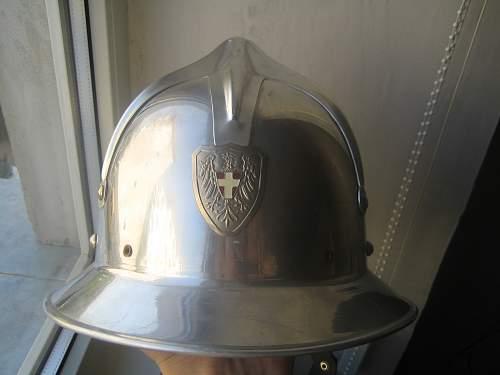 aluminium fireman helmet