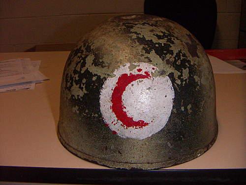 Iraqi issued British MKII Tank helmet?