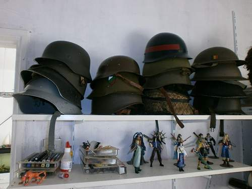 My (still small) collection and mystery helmets