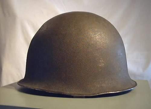M51 Steel Combat Helmet strange liner it seems like its from another helmet