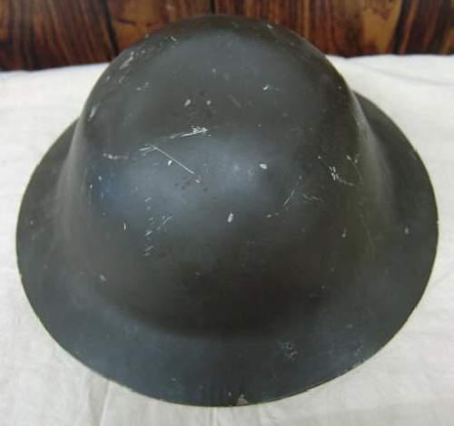 Two Odd Tommy/Brodie Helmets - Civil Defense Lids?