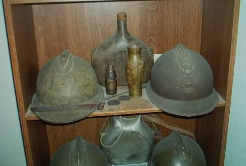 French M26 helmet shells