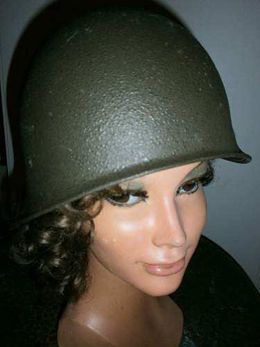Close up from my steel helmet collection in detail