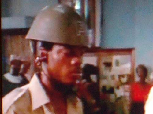 can you identify the helmets used in DOGS of WAR 1981 movie?