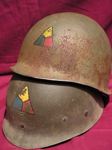 Click image for larger version.  Name:Howard Radford 2nd Armored Divison Helmet 015.jpg Views:72 Size:66.8 KB ID:46880