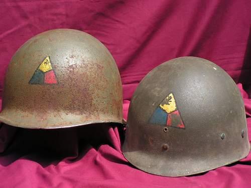 Click image for larger version.  Name:Howard Radford 2nd Armored Divison Helmet 010.jpg Views:38 Size:107.6 KB ID:46881