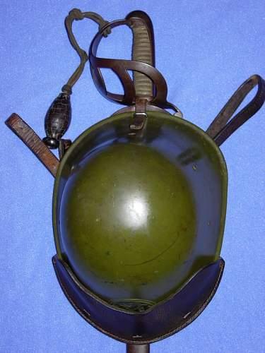 Click image for larger version.  Name:Coll.nr. EV-075, M34, helmet saddle carrier on cavalery Long Sabre nr.1.jpg Views:52 Size:48.8 KB ID:502993