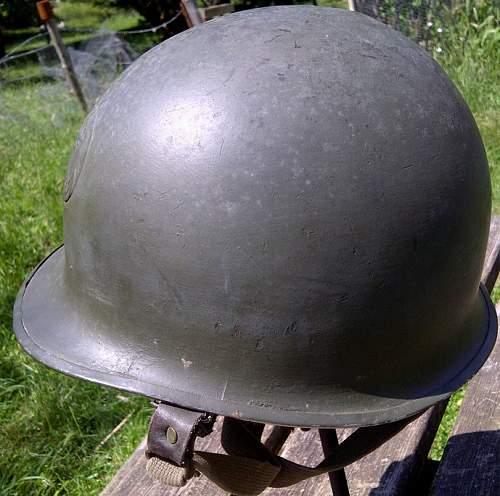 French M1 with helmet badge / Indochine - Algeria?