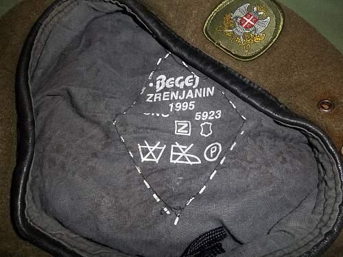 yugoslavian helmet M-59/85  and beret