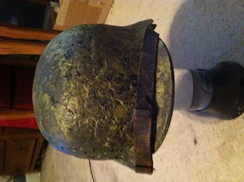 My unique west german m35/53 helmet