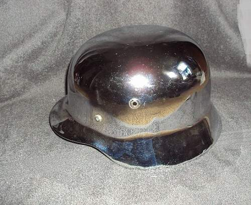 WEST GERMAN PARADE HELMET or BIKER HELMET ???