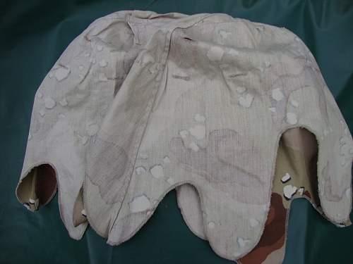 Unusual m1 steel helmet chocolate chip camo cover?