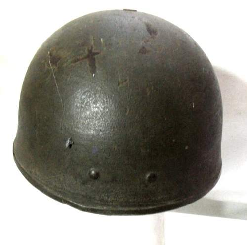Click image for larger version.  Name:Denmark m46 Converted UK Helmet Steel Airborne Troops MkI rear.jpg Views:103 Size:73.3 KB ID:797586