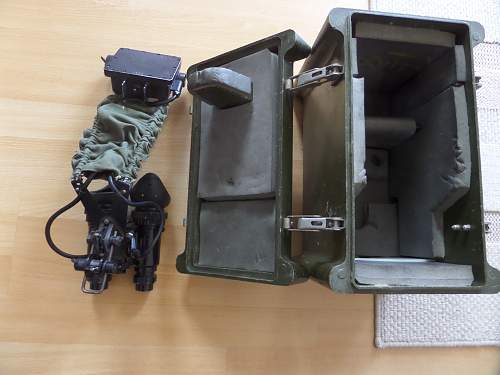 British Army 1970s Infra Red goggles