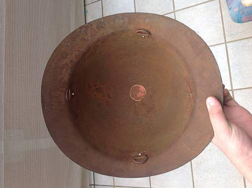 Relic condition Asian helmet...