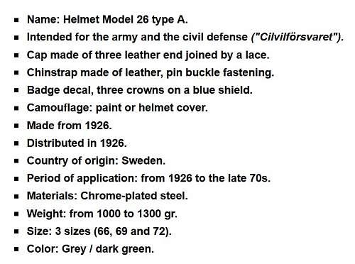 Sweden M26 helmet