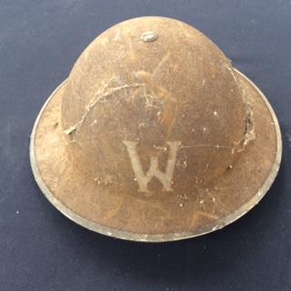 WWII Warden's helmet