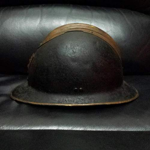 Its a original ww2 french defence passive civil defence army helmet?