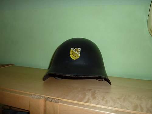 swiss helmet with WM decal