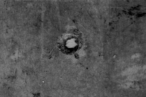 Click image for larger version.  Name:Bullet hole IMG_026.jpg Views:133 Size:101.0 KB ID:880847