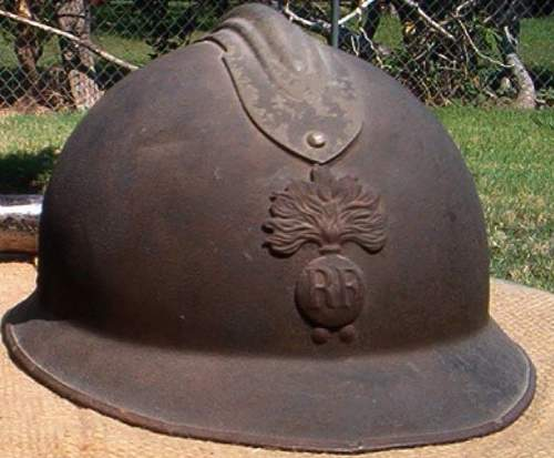 A small find but with character... Late WWII M26 Adrian helmet.