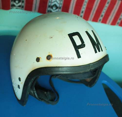 This could be a Romanian MP helmet....