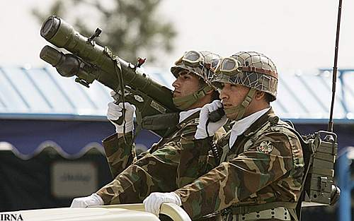 can you ID the helmets used by these Iranian soldiers?