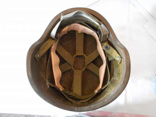 U.S PASGT Helmet with choc chip cover and SWDG goggles