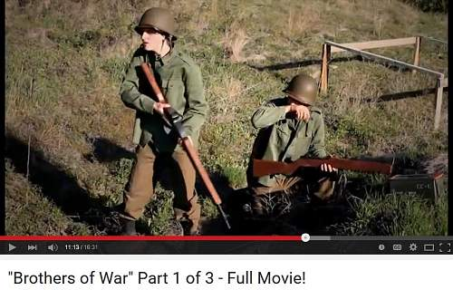 WWII movie BROTHERS of WAR post war helmets used in movie UK