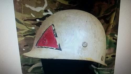 my Iraqi helmet