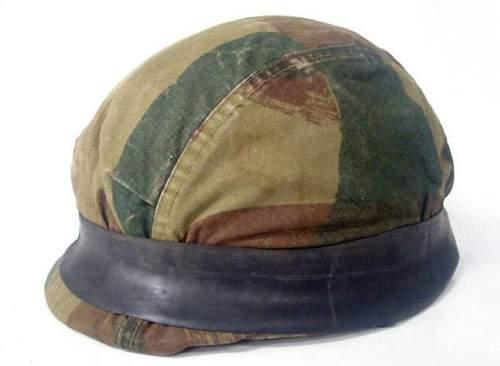 Belgian paratroopers helmet mfg by West Germany