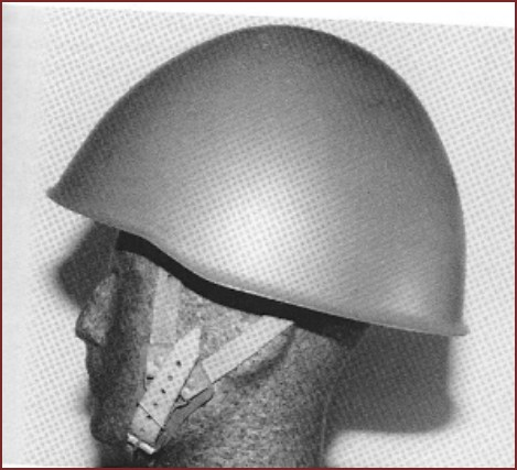 SYRIAN soldier with unknown eastern european style helmet with leather Y straps