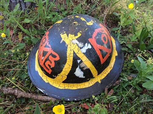 Hippie/Woodstock helmet