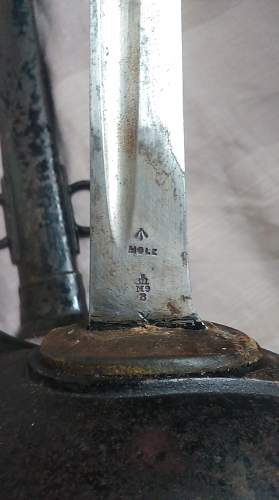 Unit Markings on P1908 Cavalry Trooper's Sword