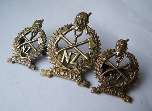 New Zealand Pioneer battalion cap badge