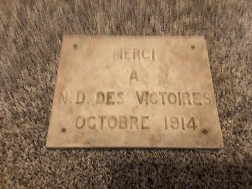 Unknown french war plaque