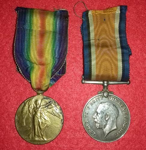 Naming on WW1 Medal Trio