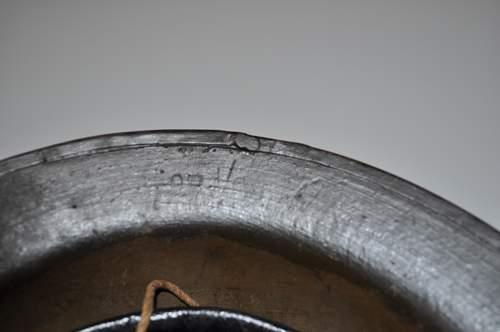 2 Flashed US Brodie M1917 Helmets